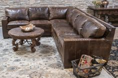 Gorgeous chocolate brown color distressed sectional with comfort and great style. Excellent craftsmanship and made in the U. Sectional Sofa With Recliner, Chocolate Color, W 6, Home Living Room, Home Furnishings, Track, Leather, Furniture, Colorado