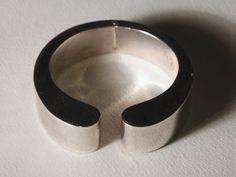 Pre 1979 Modernist Mexican Silver  Sterling  Clamp Cuff Bracelet. $187.00, via Etsy.
