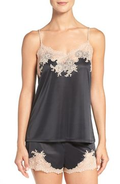 Free shipping and returns on Natori 'Boudoir' Lace Trim Shorts Pajamas at Nordstrom.com. Smooth and silky against the skin, this luxurious camisole and shorts set is charmed by delicate, sheer lace trim.