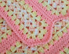 Peach Mile a Minute Baby Blanket