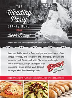 Buca di Beppo – Colorado Wedding & Special Event Catering, Rehearsal Dinners