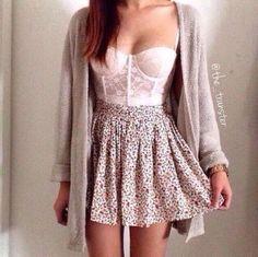 dress cream skirt floral boho short dress lovely pink cute pink dress floral dress pastel tumblr we heart it sweater