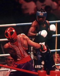 Ariel Hernandez, Cuba's Olympic Gold medalist at the 1992 and 1996 Olympics in boxing.