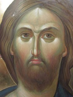 face of Christ Byzantine Icons, Byzantine Art, Religious Icons, Religious Art, Anima Christi, Spiritual Paintings, Holy Quotes, Mary And Jesus, Best Icons