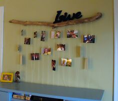 Creative Way to Hang Pictures, Driftwood