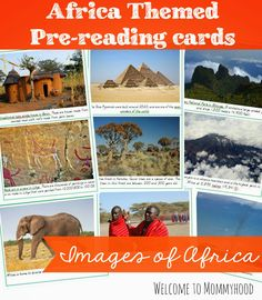 Free African Images Cards - Montessori Inspired from Welcome to Mommyhood