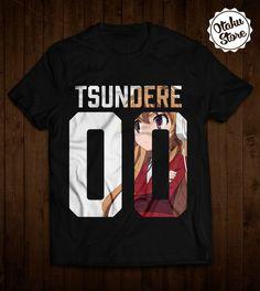 "Anime ""Toradora! / Tsundere"" t-shirt. Anime DTG print."