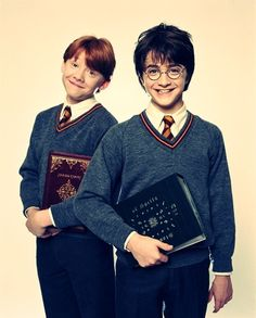 harry + ron the cutest photo ever