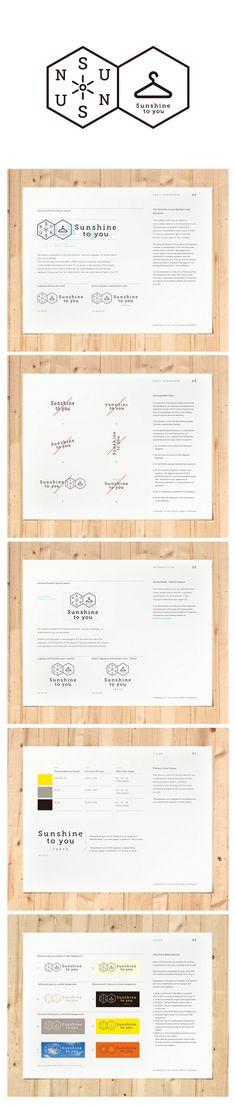 Sunshine to you! by Junpei Kudo, via Behance Typo Logo, Logo Sign, Typography, Design Guidelines, Brand Guidelines, Branding Tools, Logo Branding, Logos, Brand Identity Design