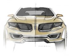 Exclusive: Interview with Lincoln Design Manager Andrea di Buduo . Bike Sketch, Car Sketch, Lincoln Mkx, Lincoln 2017, Bad Boys Toys, Car Design Sketch, Futuristic Cars, Car Drawings, Transportation Design