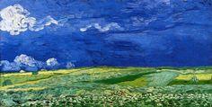 Van Gogh - Champs de blé sous un ciel nuageux