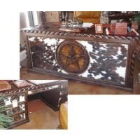 Cowhide Executive Desk.  COWHIDE!! I should tell my dad I need this for my office.