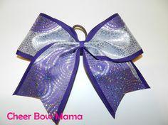 Purple Swirls Cheer Bow by CheerBowMama on Etsy