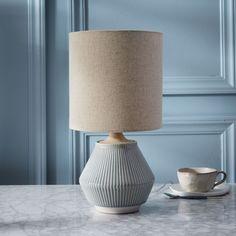 Roar + Rabbit™ Ripple Ceramic Table Lamp - Small Narrow (Cool Gray)