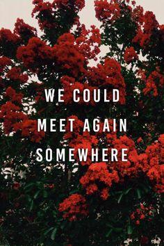 nós poderíamos nos encontrar de novo em algum lugar