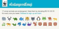 WWF Endangered Emoji - The Inspiration Room Best Social Media Campaigns, Social Campaign, Social Media Trends, Online Marketing, Social Media Marketing, Digital Marketing, Marketing Campaign Examples, Cool Emoji, Emoticon