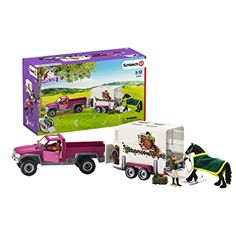Schleich North America Pick Up with Horse Trailer Playset Pick Up, Horse Shop, Bryer Horses, Walking Horse, Horse Feed, Horse Accessories, Fun World, North America, Club