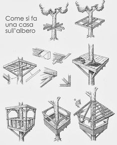 New tree house diy kids treehouse Ideas Building A Treehouse, Treehouse Ideas, Kids Building, Building Ideas, Tree House Plans, Diy Tree House, Simple Tree House, Cool Tree Houses, Pallet Tree Houses