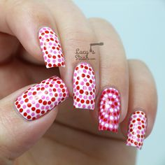#Dotted #Swirl #Nails -#Valentine's Day edition with TUTORIAL