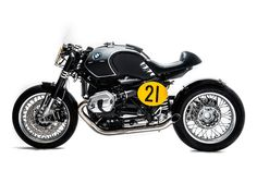 Welcome to Cafe Racer Design! We focus solely on showcasing the design of Cafe Racer Motorcycles. Cafe Racer is a term used for a type of motorcycle and the cyclists who ride them! Bmw Cafe Racer, Moto Cafe, Cafe Bike, Cafe Racers, Bmw Ninet Racer, Bobber Custom, Custom Cafe Racer, Custom Bikes, Custom Bmw