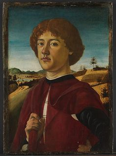 ca. 1470 Florentine tempera on wood, Portrait of a Young Man by Biagio d'Antonio (21 3/8 x 15 1/2 in.) - Met Museum 32.100.68