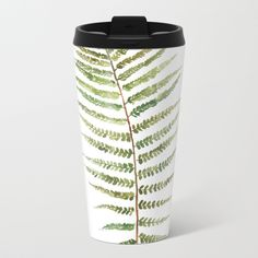 Buy Botanical Single Leaf Fern Metal Travel Mug by susanbrand. Worldwide shipping available at Society6.com. Just one of millions of high quality products available.