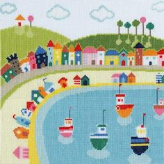 Beach Huts - Beside The Seaside Cross Stitch Kit from Bothy Threads