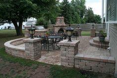 Portfolio: Patios, Seat Walls, Pillars,  Landings in Neenah, Appleton, Fox Valley and Green Bay Wisconsin - Springhetti Custom Landscapes