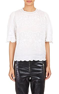 Isabel Marant Embroidered Voile Rumba Top - Blouses - Barneys.com