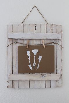 white shabby chic wooden picture frame / memory (etsy shop: tinascraftshack)