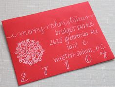 Custom Invitation Addressing with Calligraphy and Hand Stamp to Fit the Theme of Your Event. $1.75, via Etsy.