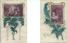 2 Embossed Vintage Religious Christmas Postcards Unused. #Christmas