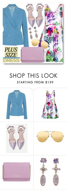 """""""Plus Size Dress"""" by brendariley-1 ❤ liked on Polyvore featuring STELLA McCARTNEY, City Chic, Linda Farrow, Kate Spade, Melissa Joy Manning, dress and plussize"""