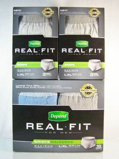 """#Depend """"Real Fit for Men"""" maximum absorbency underwear briefs/diapers for incontinence in #mens size large/extra-large (L/XL), brand new in original manufacturer's factory sealed gray cardboard box retail protective package 16 count ct. piece pc. lot/set http://www.ebay.com/itm/NEW-NIB-16-COUNT-LOT-DEPEND-REAL-FIT-MEN-MAXIMUM-ABSORBENCY-BRIEFS-SIZE-L-XL-/140833802237?pt=LH_DefaultDomain_0&hash=item20ca5947fd"""
