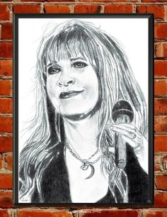 Stevie Nicks Portrait Original Art,Musician, Celebrity Art, Queen of Rock n Roll