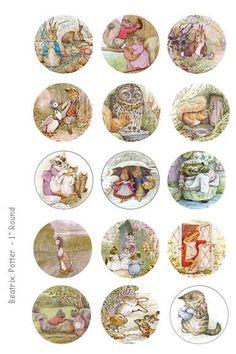 Beatrix Potter Illustrations  4 x 6 Digital Collage by OldMarket, $2.00