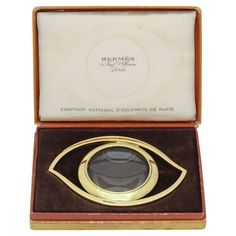 Hermes Eye Desk Magnifying Glass in the Original Box | From a unique collection of vintage desk accessories