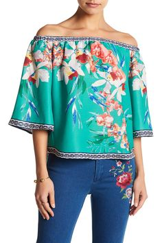 Floral Off-the-Shoulder Blouse  by A.Calin on @HauteLook