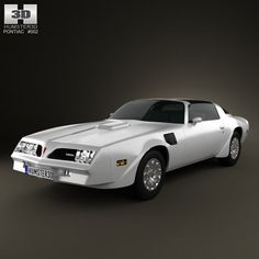 3d model pontiac firebird transam