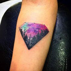 Diamond Galaxy Tattoo by Kace More