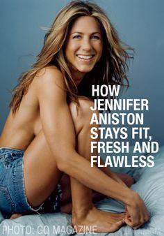 Jennifer Aniston: Beauty and Fitness Secrets Body Inspiration, Fitness Inspiration, Jennifer Aniston Hot, Skinny Mom, Thinspiration, Along The Way, Stay Fit, Role Models, My Idol
