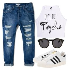 """""""Untitled #224"""" by alexa7-p ❤ liked on Polyvore featuring MANGO, adidas Originals and Illesteva"""