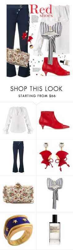 """""""I'll be as bad as my shoes"""" by laste-co ❤ liked on Polyvore featuring Moschino, Versace, Les Néréides, Alexander McQueen, Walk of Shame and D.S. & DURGA"""