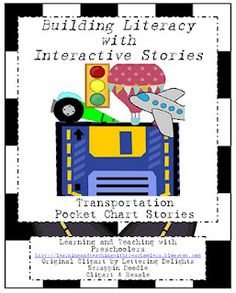 Learning and Teaching With Preschoolers: Transportation Pocket Chart Stories