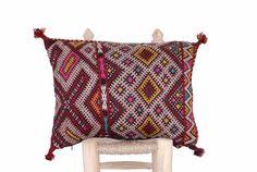 Kilim Berber Pillow Cushion 17x13 Vintage Handmade by BerberNomads