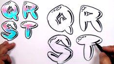 Graffiti Letters Alphabet Bubble Letters Alphabet Q R S T - MAT