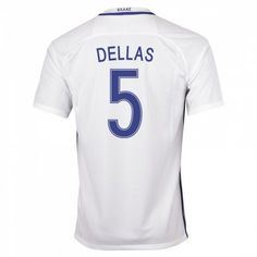 Greece Jerseys 201617 Home Soccer Shirt 5 Dellas Greek goaltender Orestis  Karnezis wears the 1 ... 21b5b8cc9