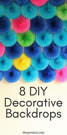 Planejando uma festinha com os pimpolhos? Achamos 8 fundos para decorar aniversário que dão para fazer em casa!