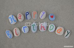 "Download the royalty-free photo ""Happy Birthday with love on carved stones"" created by Ciaobucarest at the lowest price on Fotolia.com. Browse our cheap image bank online to find the perfect stock photo for your marketing projects!"