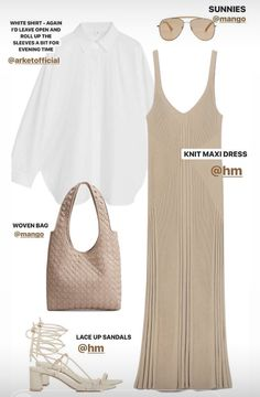 Dressy Casual Outfits, Cool Outfits, Summer Outfits, Fashion Outfits, Womens Fashion, Fashion Trends, Mode Dope, Outing Outfit, Beige Outfit